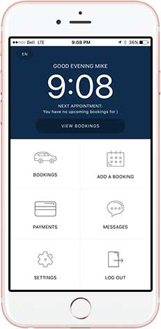 Booking home cleaning via application