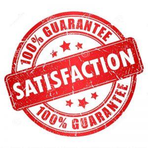 100% guarantee satisfaction