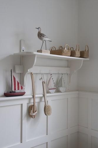 Bathroom Shelf with Decorations