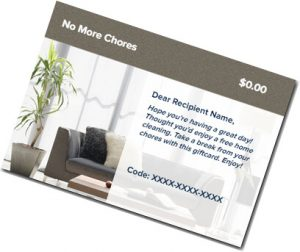 No More Chores: House Clean Gift Card