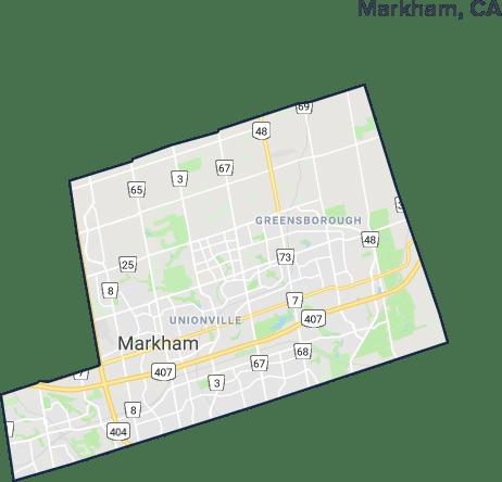 Markham, Ontario Map