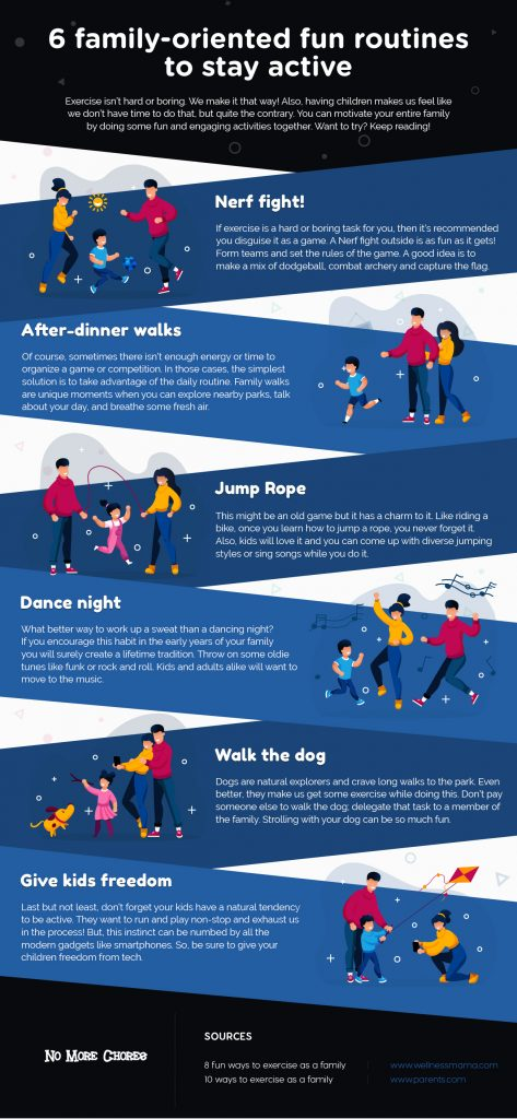 6 family-oriented fun routines to stay active