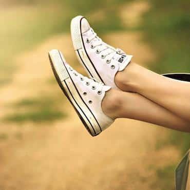 Client relaxing her legs